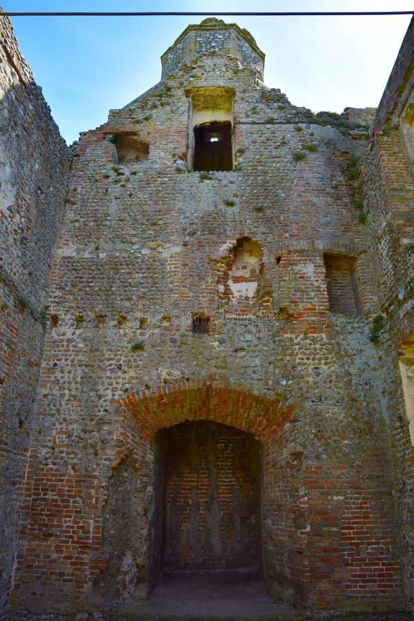 Baconsthorpe城堡,诺福克,英国 免版税库存照片