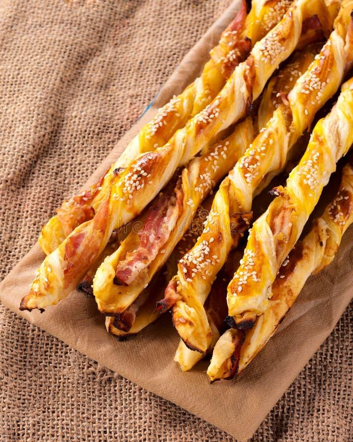 Baconstokken stock foto