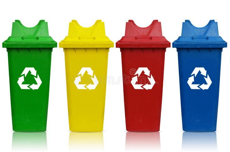 Bacs de recyclage photographie stock libre de droits