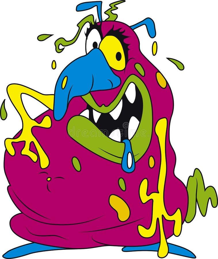 Bactérias cor-de-rosa ilustração stock