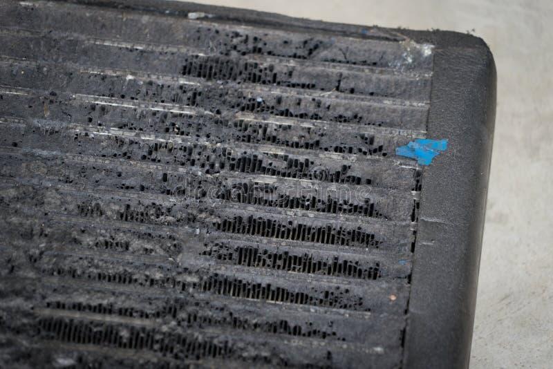 Bactérias do reparo de dano do carro do automóvel da condição do ar da bobina imagens de stock