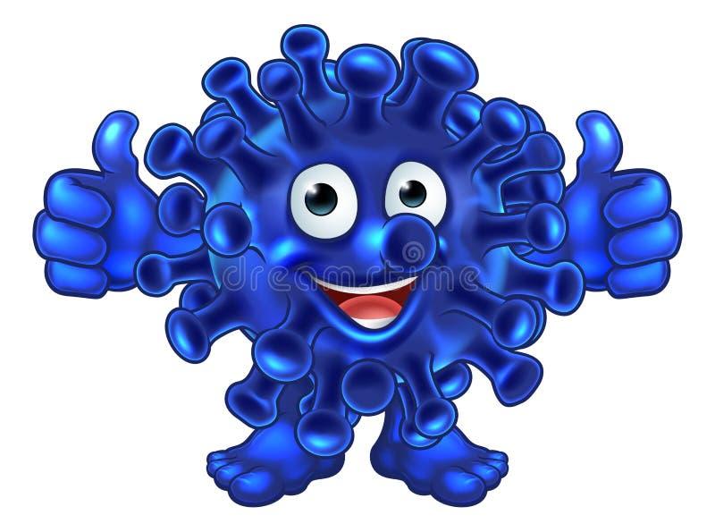 Bactérias estrangeiro do vírus ou personagem de banda desenhada do monstro ilustração do vetor