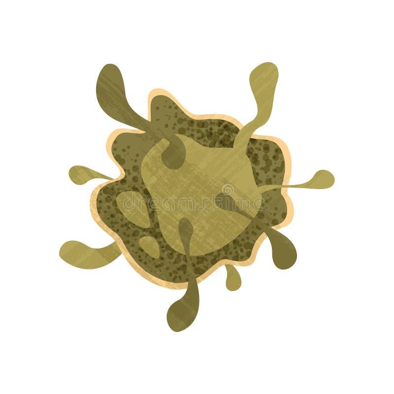 Bactérias patogênicos verdes Micro-organismo da biologia Tema da ciência e da microbiologia Ícone liso do vetor com textura ilustração do vetor
