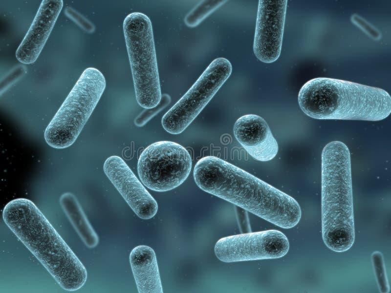 bactéries 3d illustration stock