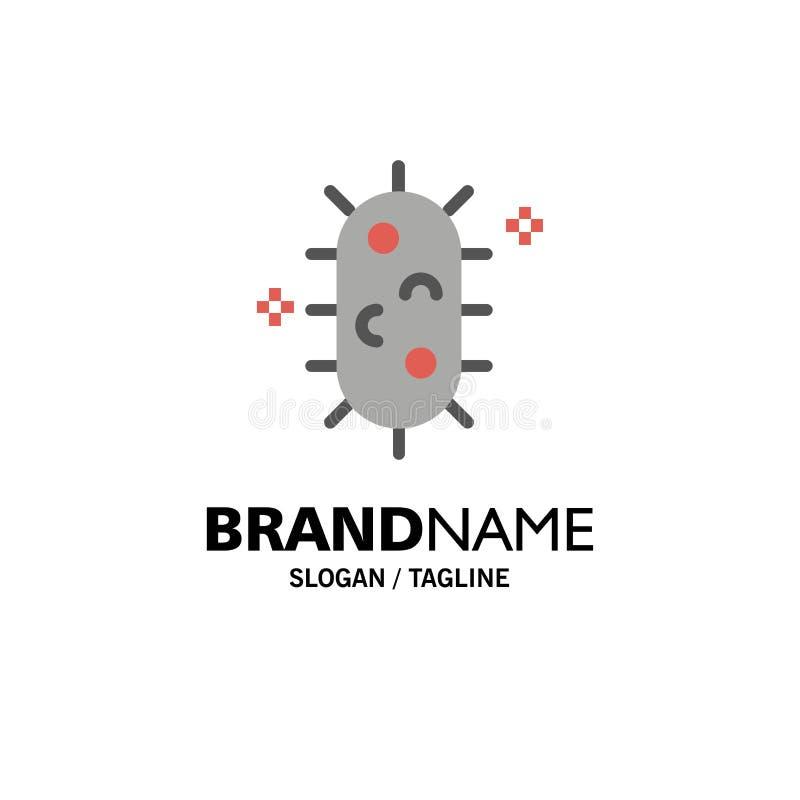 Bactéries, biochimie, biologie, affaires Logo Template de chimie couleur plate illustration de vecteur