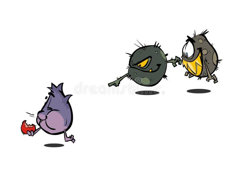Bactéries de germe de virus illustration stock
