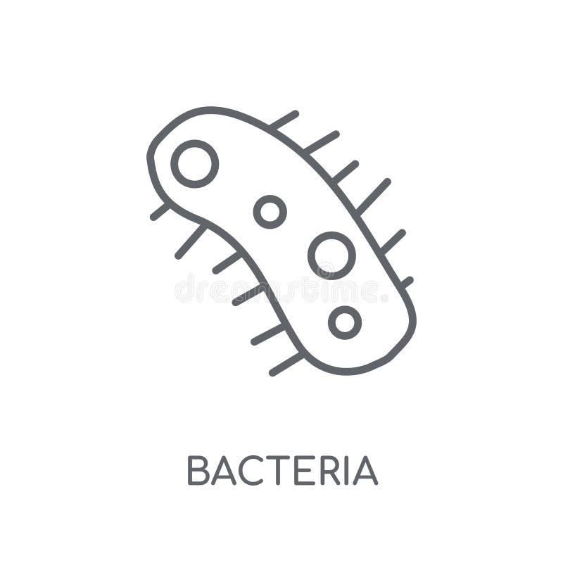 bacteriën lineair pictogram Modern het embleemconcept van overzichtsbacteriën op wh royalty-vrije illustratie