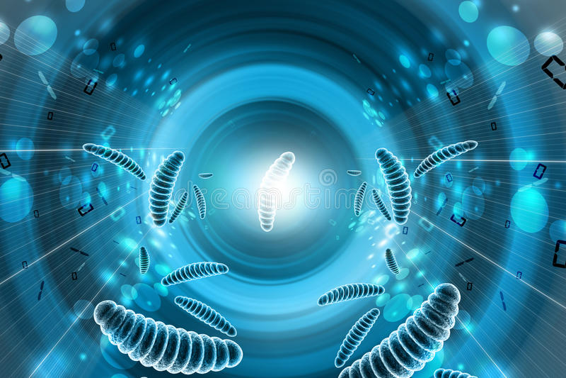 Bacteriëncel royalty-vrije illustratie