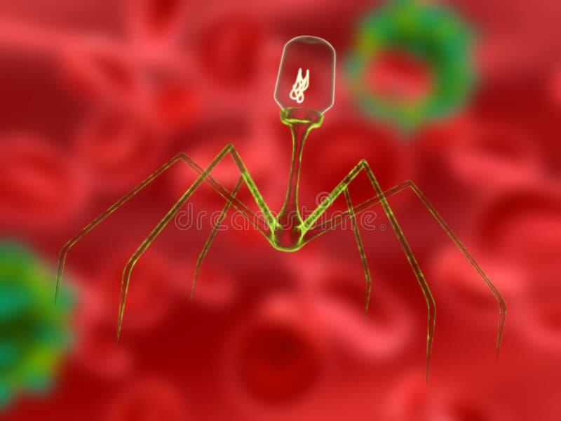 Bacteriófago stock de ilustración