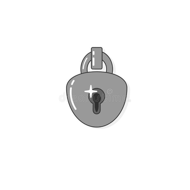 Key lock padlock. Locker icon, vector padlock symbol. Key lock illustration privacy and password icon stock illustration