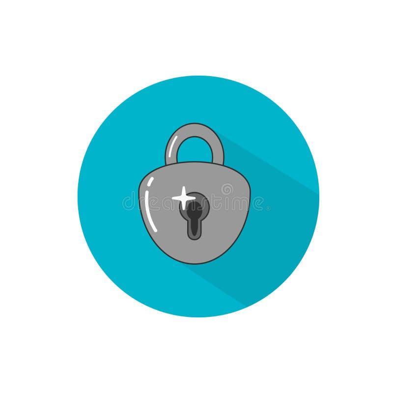 Key lock padlock. Locker icon, vector padlock symbol. Key lock illustration privacy and password icon vector illustration