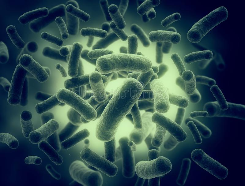 Bacteria high resolution 3d render royalty free stock images