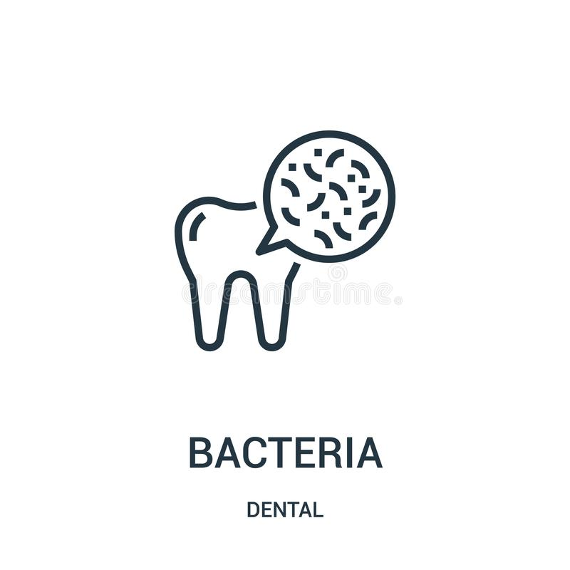Bacteria icon vector from dental collection. Thin line bacteria outline icon vector illustration. Linear symbol. For use on web and mobile apps, logo, print vector illustration