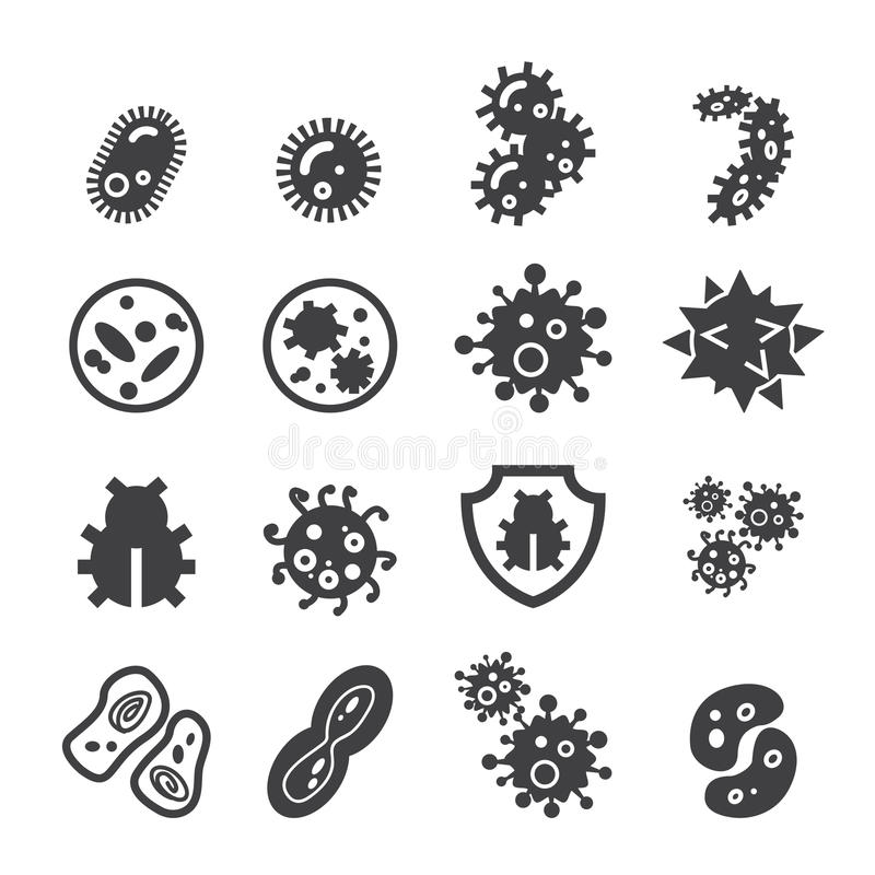 Bacteria icon. Web icon illustration design vector sign symbol stock illustration