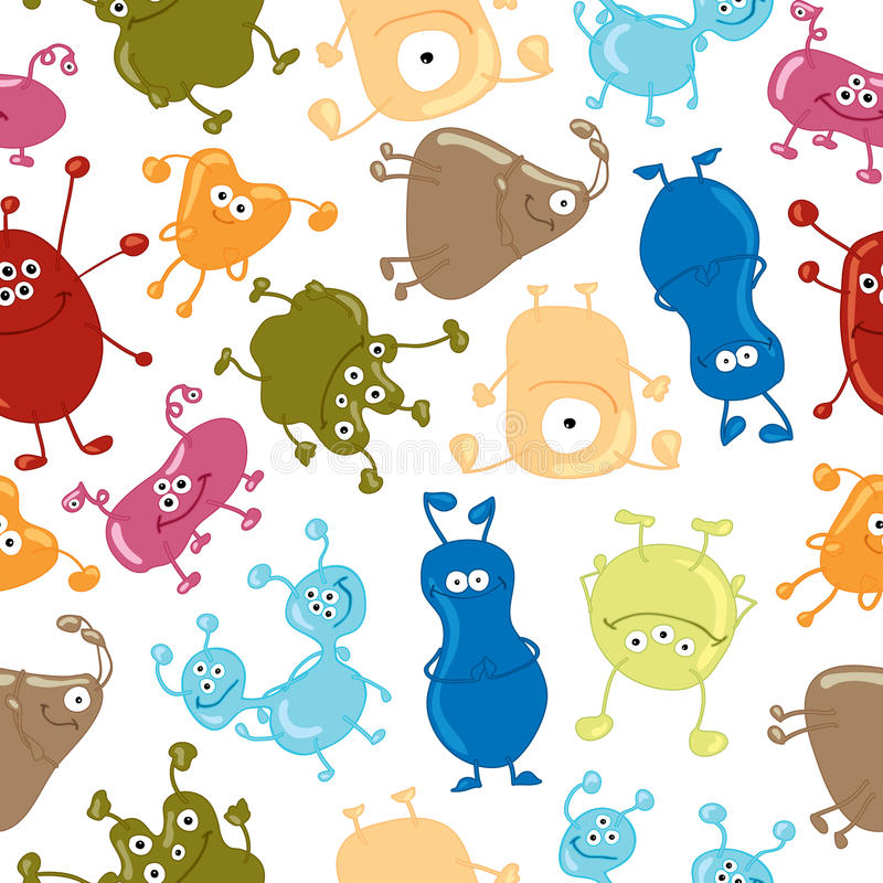 Download Bacteria. Seamless Vector Pattern. Medicine Stock Vector - Illustration: 43214534