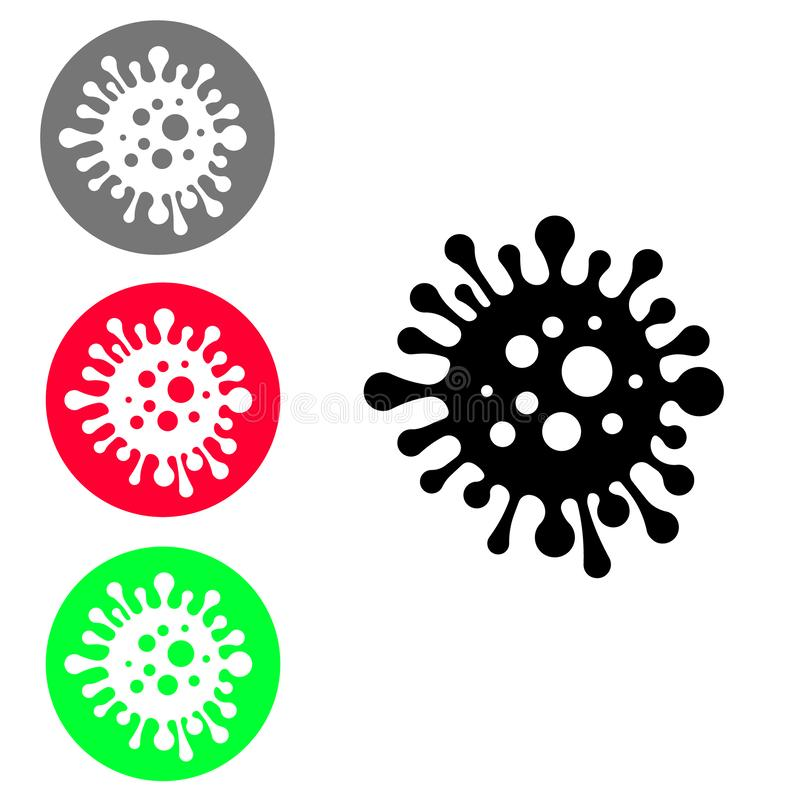 Bacteria vector icon. microorganism disease causing illustration symbol. cell cancer sign. virus logo. For web sites or mobile stock illustration