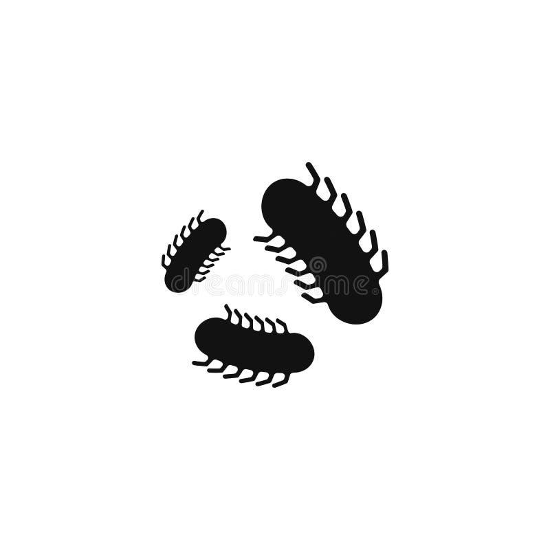 Bacteria vector symbol logo icon stock illustration