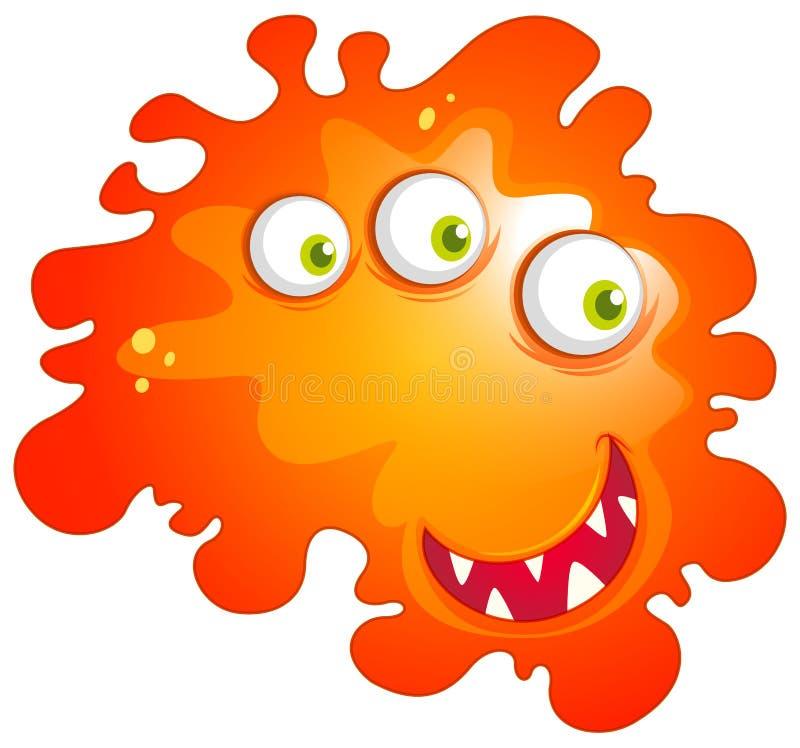 Bacterias con la cara del monstruo stock de ilustración