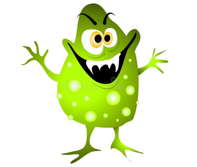 Bacterias del germen del virus de la historieta   ilustración del vector