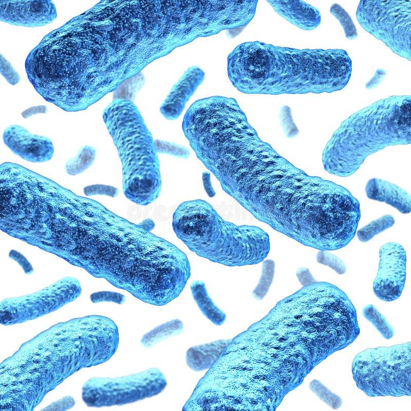 Bacterie en Bacteriën stock illustratie