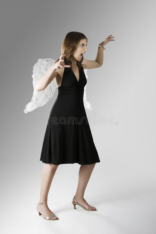Download Bad Angel stock photo. Image of expression, color, skinny - 5948552