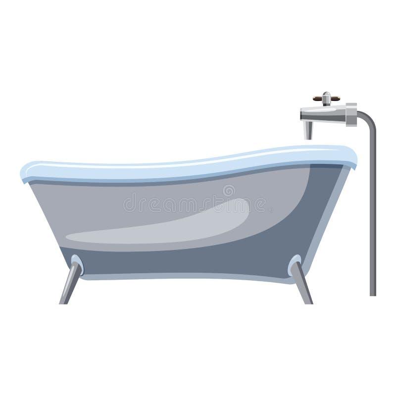 Bad auf Beinen Ikone, Karikaturart lizenzfreie abbildung