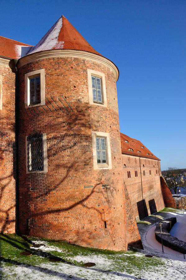 Bad Belzig. The castle in Bad Belzig in winter royalty free stock photography