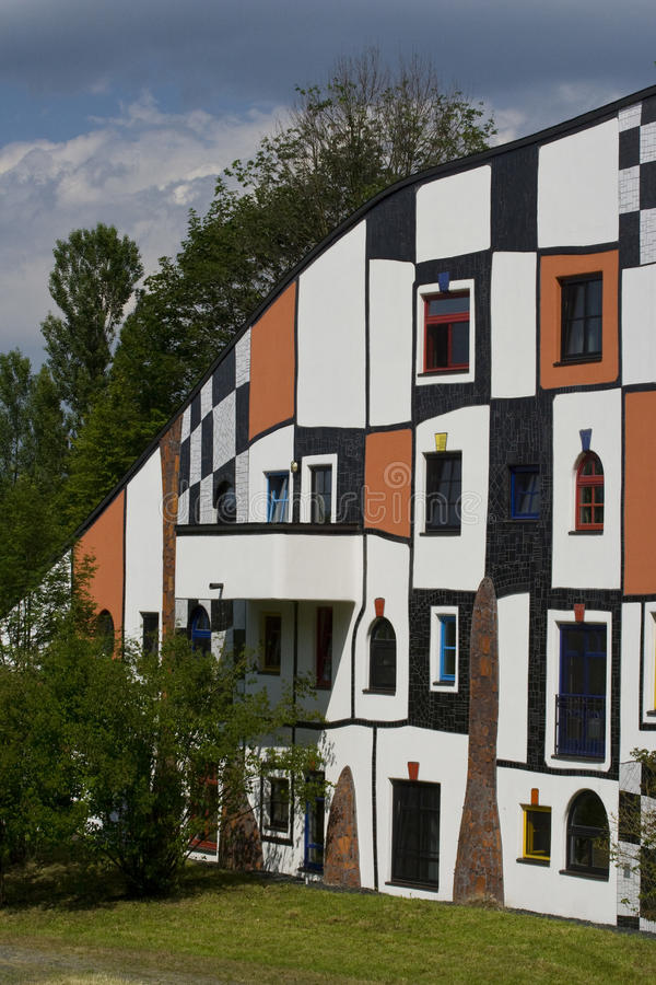 Bad Blumau _windows. Famous spa resort Bad Blumau in Austria, designed by Hundertwasser,known for his individual architectural designs. These designs use royalty free stock photo