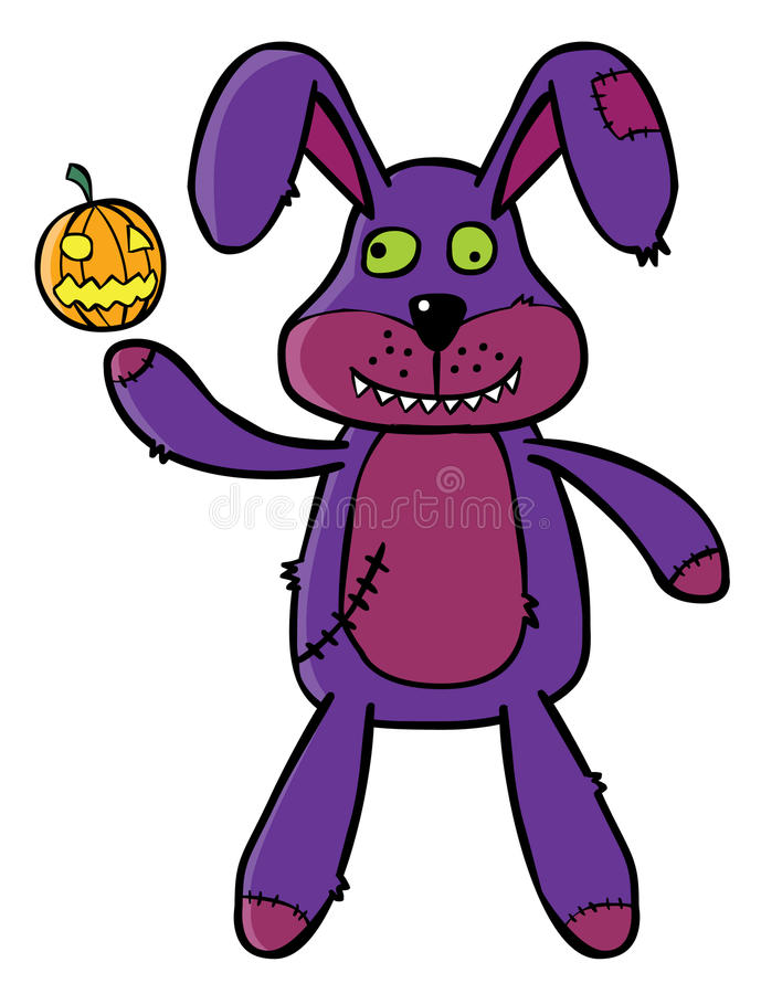 Download Bad Bunny puppet stock vector. Image of doll, painting - 25855831