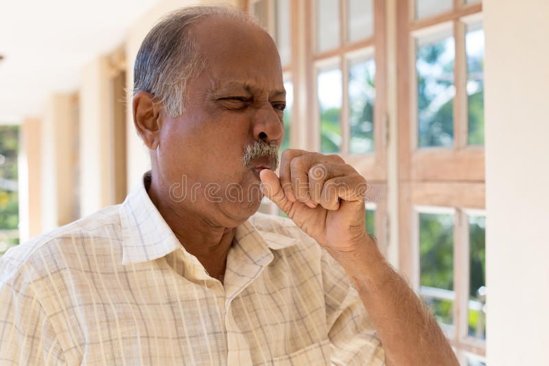 A bad cough stock images
