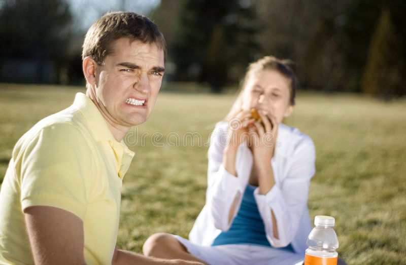 Download Bad Date stock image. Image of heat, negativity, picnic - 4941207