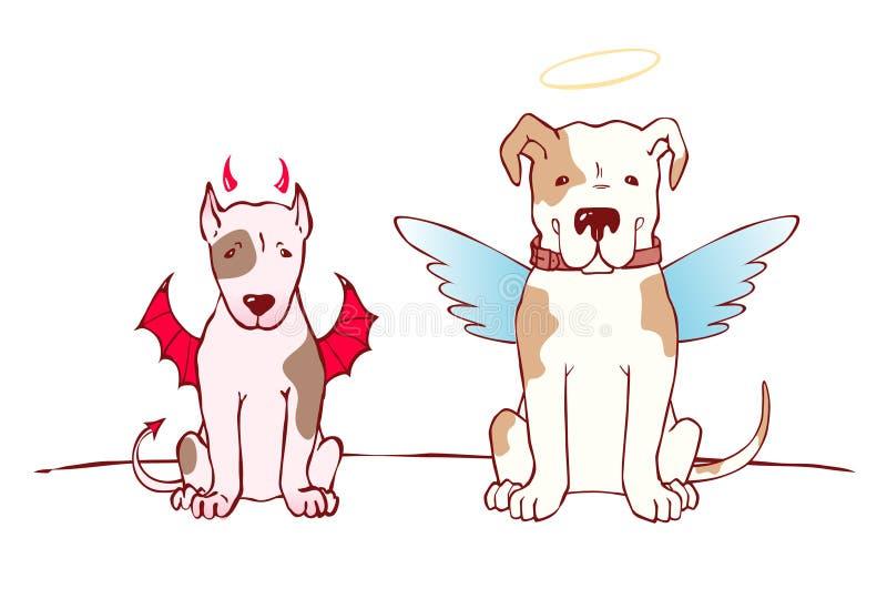 bad dobry psi ilustracja wektor