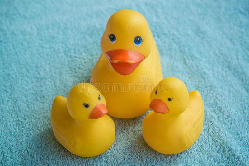 Bad duckies stock afbeelding