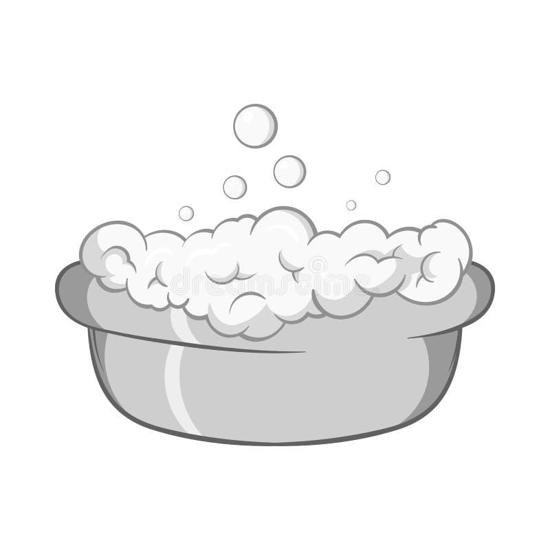 Bad für Babyikone, schwarze einfarbige Art vektor abbildung