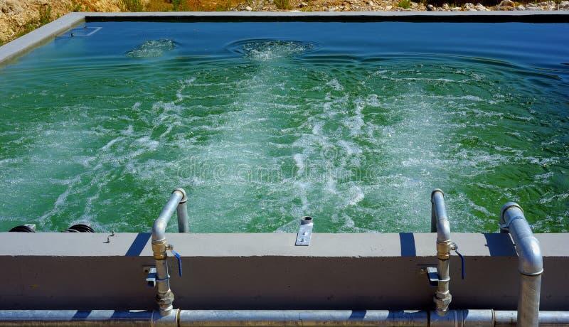 Bad für Oxidationsverwertung von abfällen-Wasser lizenzfreie stockfotografie