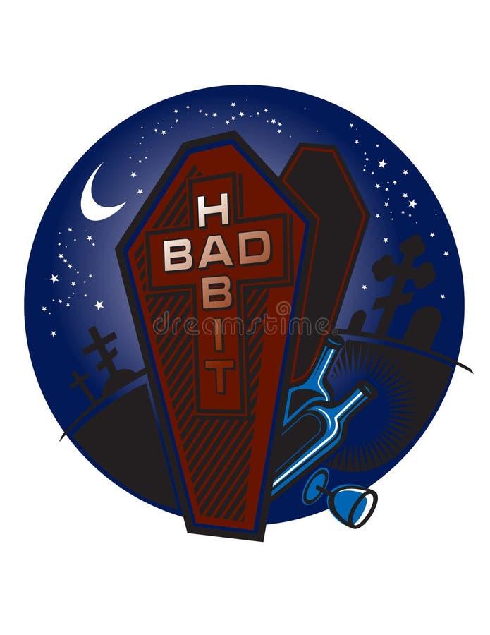 Download Bad Habit stock vector. Illustration of black, halo, funeral - 7541907
