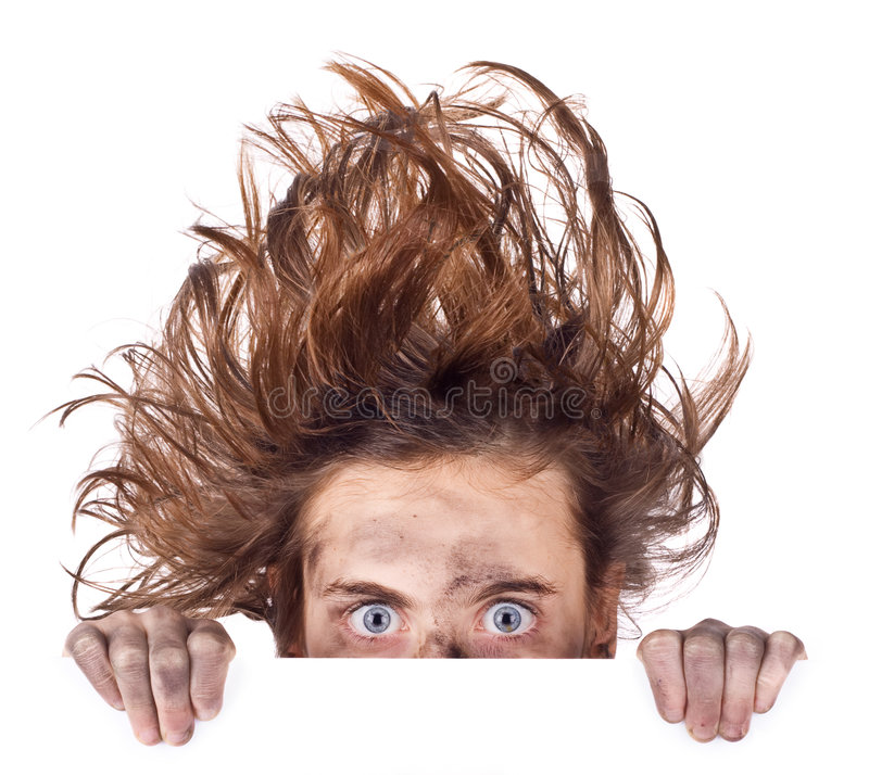 Bad hair day banner stock images