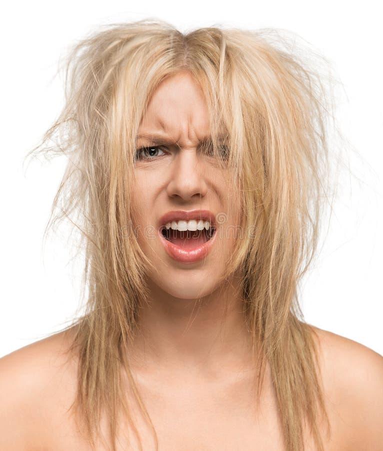 Bad Hair Day Girl: Bad Hair Day Stock Photo. Image Of Cute, Brush, Angry
