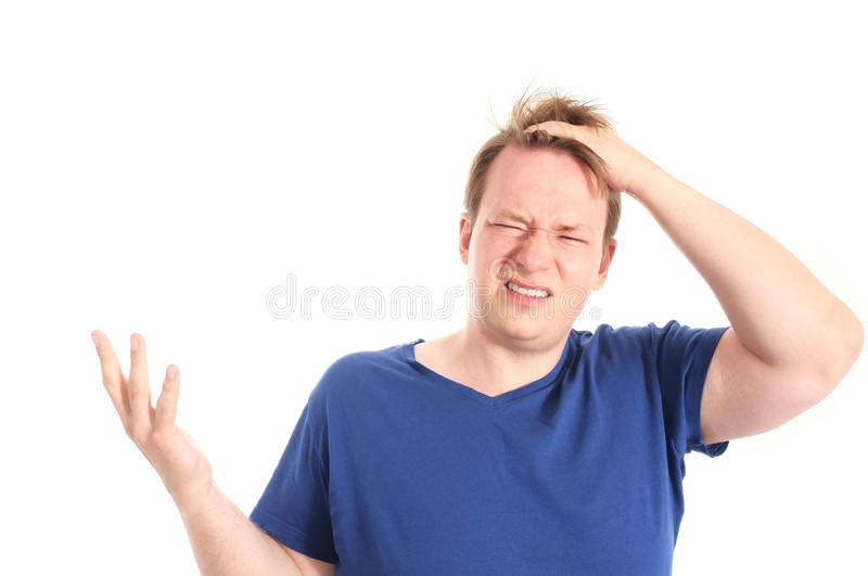 Download Bad hair day stock photo. Image of anger, dude, white - 32232720