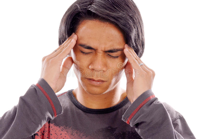 Bad Head Ache. Young Man With Bad Head Ache stock images
