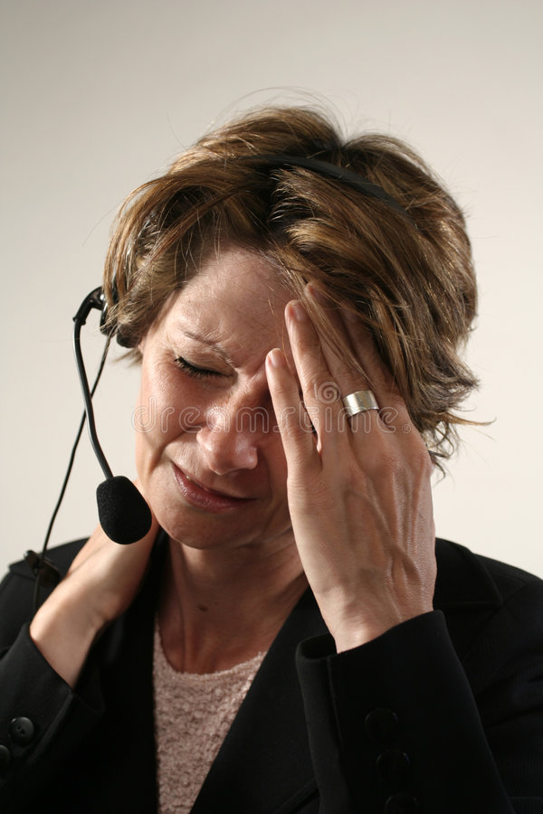 Download Bad headache stock image. Image of ache, call, girl, telephone - 232139