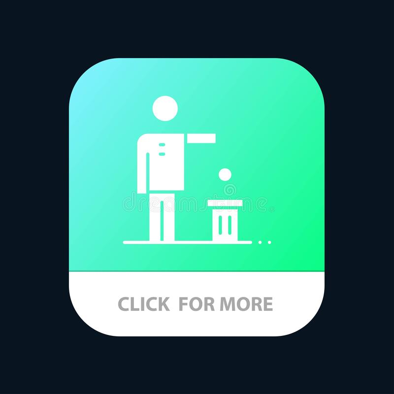 Bad, Idea, Ideas, Recycling, Thought Mobile App Button. Android and IOS Glyph Version royalty free illustration