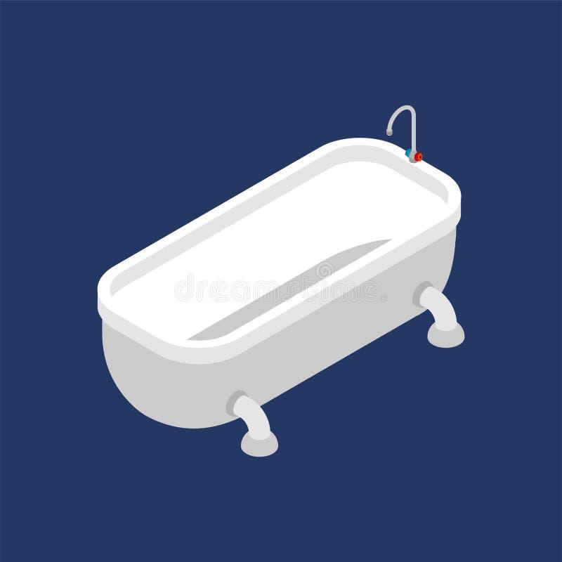 Bad-isometrisches lokalisiert Badezimmerzusatz Auch im corel abgehobenen Betrag lizenzfreie abbildung