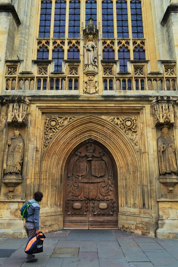 Bad-Kathedralen-Eingang lizenzfreies stockbild