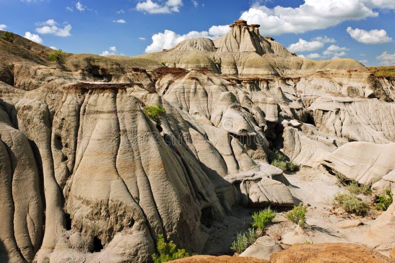 Bad-lands dans Alberta, Canada photos libres de droits