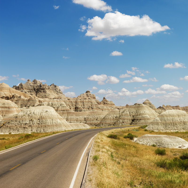 Bad-lands, le Dakota du Nord. photos stock