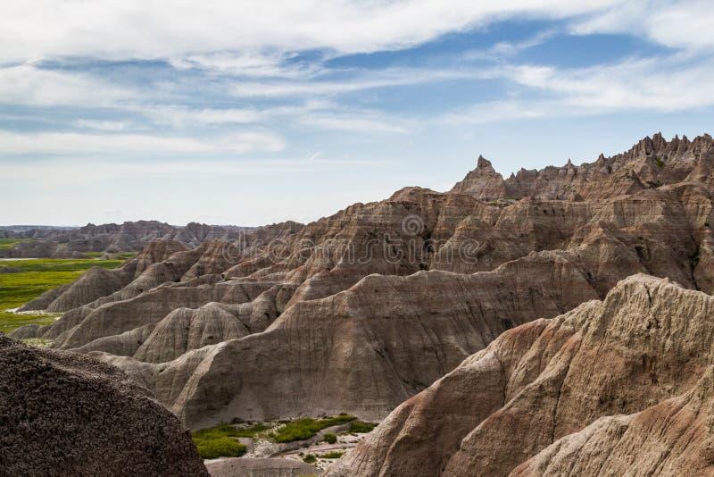 Bad-lands, le Dakota du Sud image libre de droits