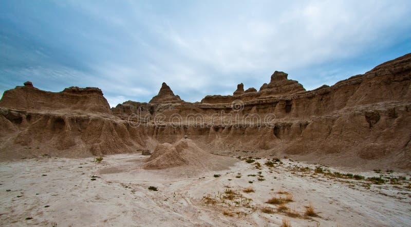 Bad-lands, le Dakota du Sud. Lever de soleil photos stock