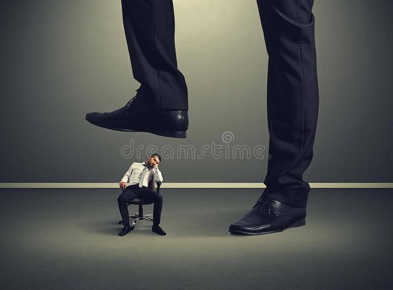Bad lazy worker royalty free stock photography