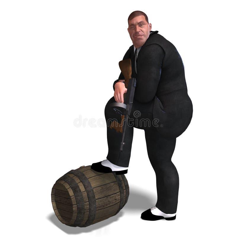 Download Bad mafia gun man stock illustration. Illustration of extortion - 11169102